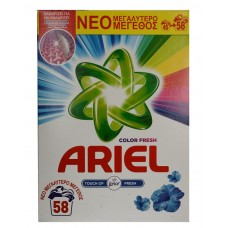 Ariel Color Fresh Touch of Lenor Прах 3.770кг за 58 пранета