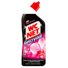WC NET Gel Crystal Pink Flowers 750мл препарат за тоалетни